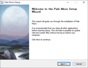 Pale Moon Web Installer package