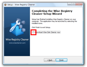 Completing the Wise Registry Cleaner Setup Wizard