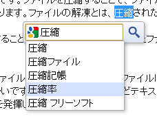 Highlight to Search のスクリーンショット
