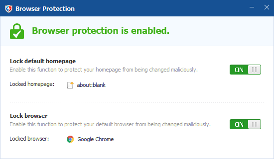 Browser Protection(ブラウザの保護)