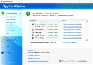 spyware blasterの評価 使い方 フリーソフト100
