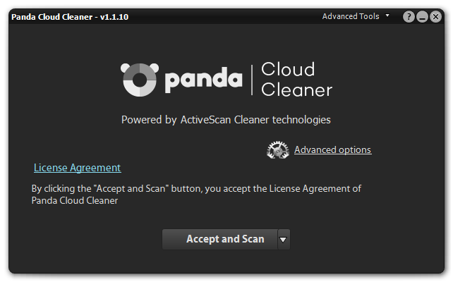 Panda Cloud Cleaner - メイン画面