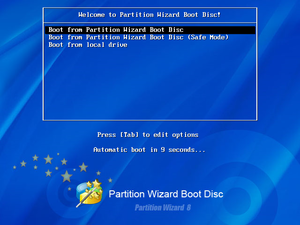 MiniTool Partition Wizard Bootable CD のスクリーンショット