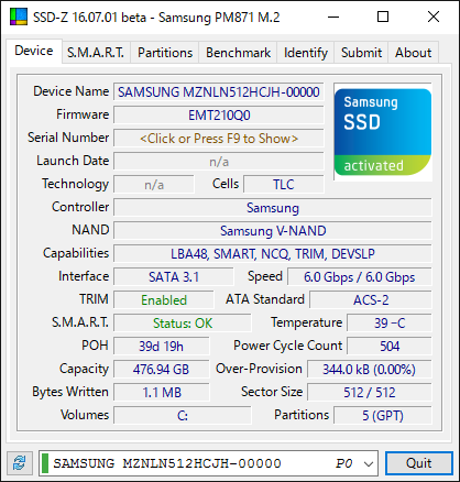 crucial ssd windows xp ファームウェア