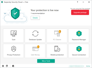 Kaspersky Security Cloud Free のスクリーンショット