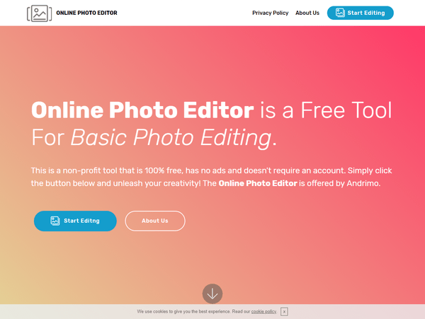 Online Photo Editor - トップ