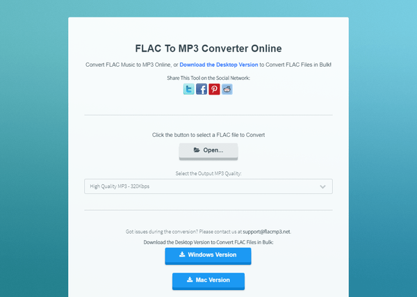 FLAC To MP3 Converter Online - トップページ