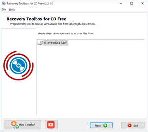 CD Recovery Toolbox Free のスクリーンショット